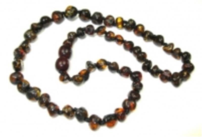 Amber Child Black Necklace 38cm