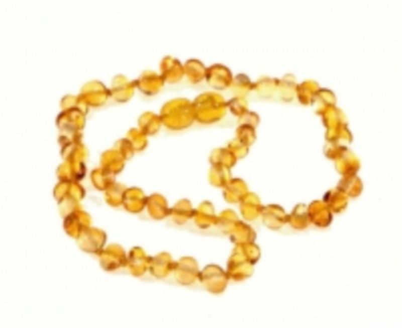 Amber Infant Lemon Necklace 33cm