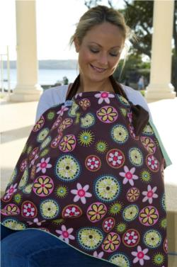 Breast Feeding Cover Carnival Bloom Green