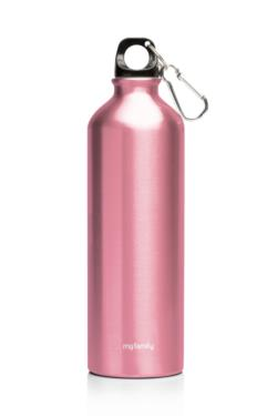 My Family 500ml Double Wall SS Bottle Pink