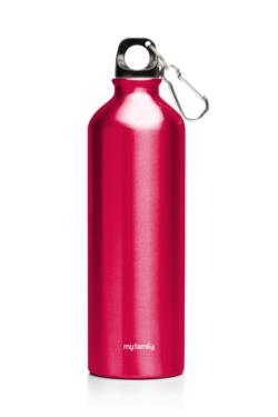 My Family 500ml Double Wall SS Bottle Red