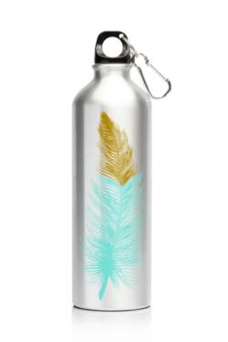 My Family 600ml SS Bottle Feathers
