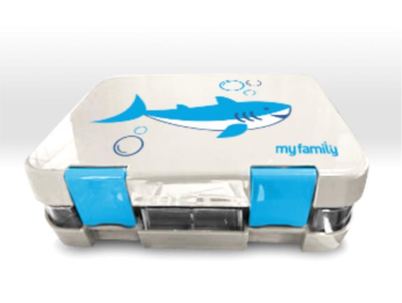 My Family Super Bento Shark - 6 Compartment