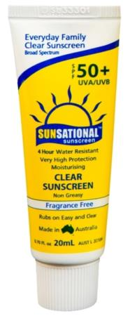 Sunsational SPF50+ Sunscreen, 20mL Tube