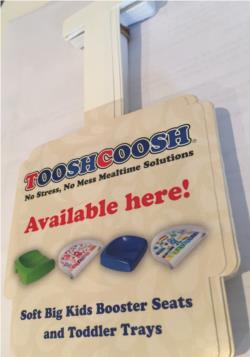 Toosh Coosh Shelf Talker