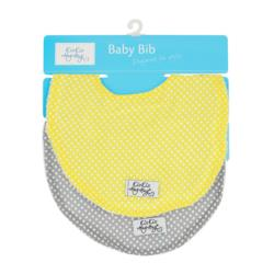 Twin Bibs Yellow/Grey Spots