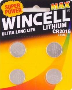 Wincell Lithium CR2016 Coin battery, pk4